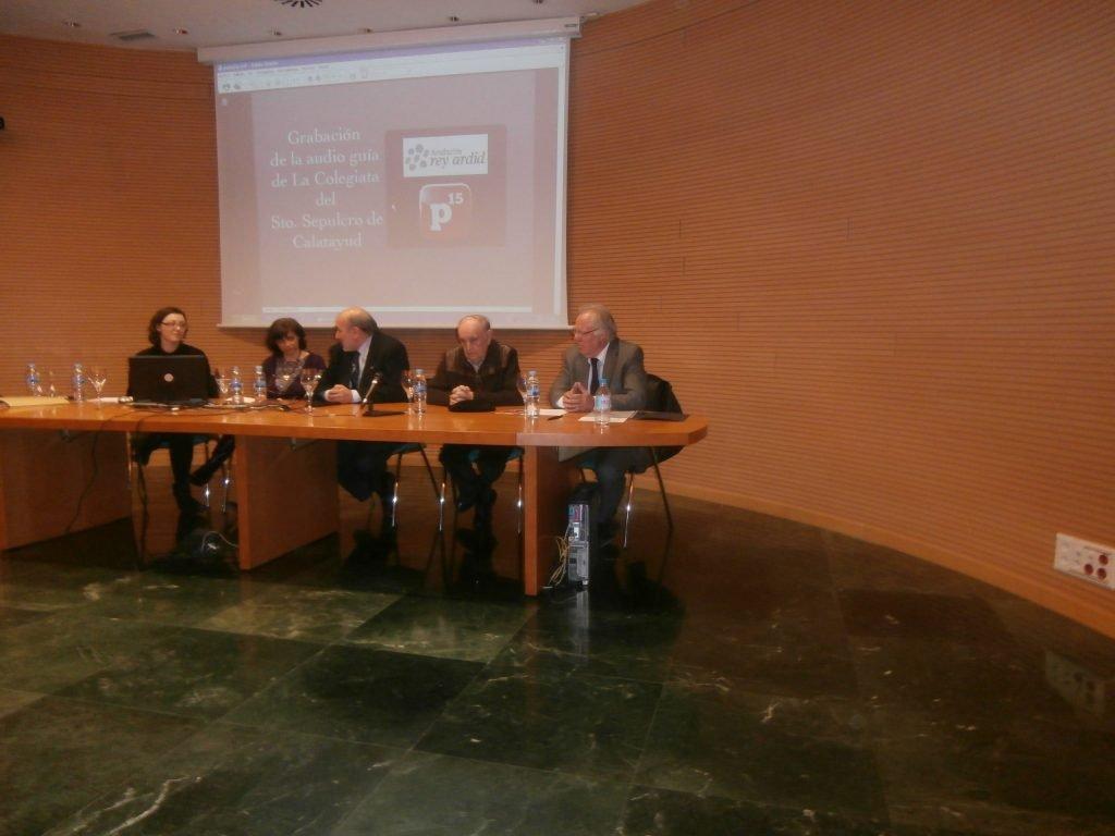 Un momento de la presentación Real Colegiata del Santo Sepulcro, audioguía