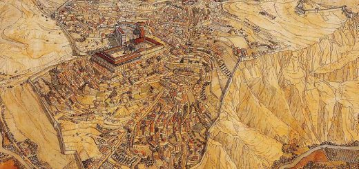 Reconstrucción de la ciudad romana de Bílbilis.