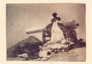 Agustina de Aragón, por Goya