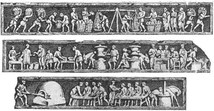 El pan. Tumba del Panadero. Bajorelieves
